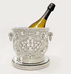 Crystal Ice Bling Champagne Bucket / Ice Bucket by LuxeLots on Etsy https://www.etsy.com/listing/237861147/crystal-ice-bling-champagne-bucket-ice