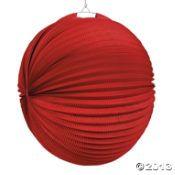 Large Party Lanterns - Red