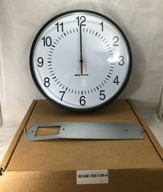 Bogen Sapling Clock, BCAM-1BS-12R-4, 24V, Selectable.NEW  #Bogen Clocks For Sale, Selling On Ebay, Things To Sell, Arch