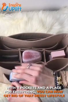This convenient, Multi-Pocket Handbag Organizer will make your life so much easier you'll wonder how you ever did without it! The organizer makes a perfect gift for all of the women in your life t Cheap Purses, Cheap Handbags, Cute Purses, Luxury Handbags, Purses And Handbags, Leather Handbags, Popular Handbags, Cheap Bags, Luxury Purses