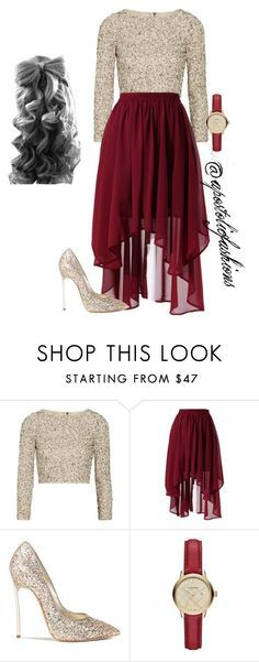 """Apostolic Fashions #1093"" by apostolicfashions ❤ liked on Polyvore featuring Alice + Olivia, Chicwish, Casadei and Burberry"