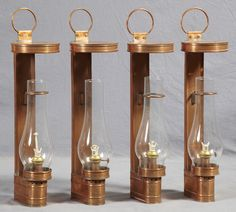 wall mounted copper oil lamps - Google Search
