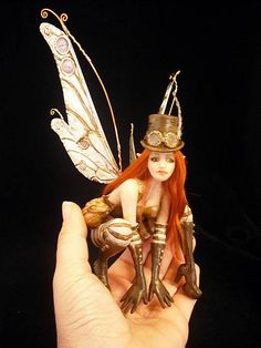 Steampunk Fairy on Mushroom