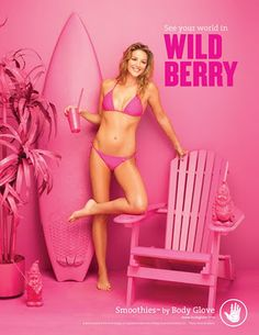 Body Glove Smoothies Campaign  By Brune & Blonde  Color - Wild Berry