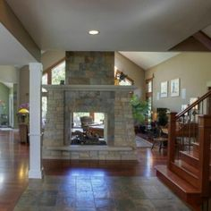 Beautiful stone, double-sided #fireplace.  1754 Banchory Ct , Downers Grove - MLS#08268019