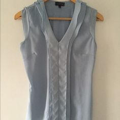 Blue blouse Pretty pale blue top perfect to wear alone or under a suit The Limited Tops Blouses