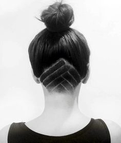 Topknot, Undercut, Hair Tattoo