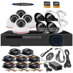 456.12$  Buy now - http://alipe5.worldwells.pw/go.php?t=32377773136 - 8CH 720P Realtime DVR 1.0MP HD-CVI Indoor Outdoor Security Camera System 456.12$