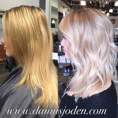 Platinum blonde balayage by Danni in Denver, Colorado