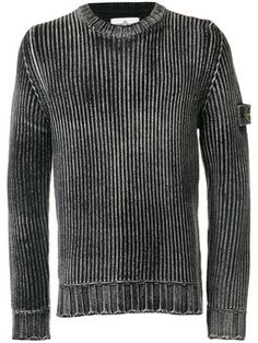 Stone Island Frosted Cable Knit Sweater In Black Pullover Design, Sweater Design, Vintage Sweaters Mens, Stone Island Jumper, Football Casuals, Cable Knit Sweaters, Designer, Knitwear, Street Wear