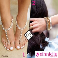 Anklets or Bracelets. Let's decide which is prettier in the comments below! #ethnicity #anklets #bracelets