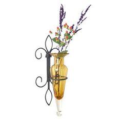 DanyaB Amphora Vase on Twig Wall Sconce in Amber | Wayfair