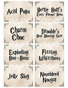 Harry Potter Themed Candy Labels DIY Printable by CraftyGoode . - Harry Potter Themed Candy Labels DIY Printable by CraftyGoode . Canny Harry Potter Potion Labels P - Baby Harry Potter, Harry Potter Baby Shower, Bonbon Harry Potter, Harry Potter Potion Labels, Harry Potter Motto Party, Harry Potter Candy, Harry Potter Fiesta, Classe Harry Potter, Harry Potter Thema