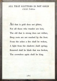 All That Glitters - Poetry Collection Several others on this site too.