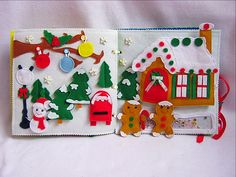 Christmas busy book Quiet book Fairytale gift
