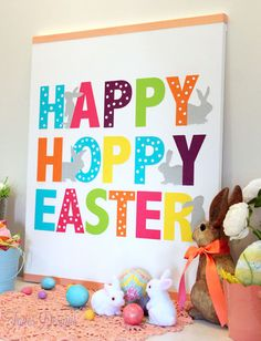 Easy Easter Canvas  - Love this colorful Easter canvas!