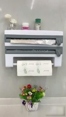 This Wall Mount Paper Towel Holder with Spice Rack makes your kitchen efficient and convenient in unimaginable ways. The holder has two dispensers for your foil, plastic wrap, or wax paper! The top of the holder is flat, so you can keep frequently-used spices close at hand. It's a one-stop shop for a well-organized kitchen. Kitchen Organisation, Spice Organization, Organized Kitchen, Cool Kitchen Gadgets, Cool Kitchens, Kitchen Necessities, Organizer, Home Projects, Decoration