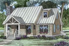 House Plan 62119 | Bungalow Cabin Cottage Southern Plan with 1425 Sq. Ft., 2 Bedrooms, 2 Bathrooms