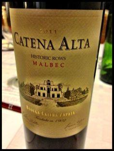 El Alma del Vino.: Bodega Catena Zapata Catena Alta Historic Rows Malbec 2011.