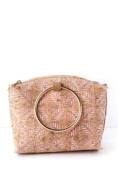 70b4816cd5 Grab the Sandy Lane Pink and Cork Purse and head to the market! This  uniquely