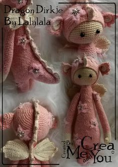 Made by Christel S (Lalylala) by alba Crochet Doll Pattern, Crochet Bunny, Crochet For Kids, Diy Crochet, Crochet Patterns, Amigurumi Patterns, Amigurumi Doll, Doll Patterns, Knitted Dolls
