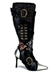 Amazon.com: Sexy High Heel Womens Pirate Costume Boot - 7: Shoes