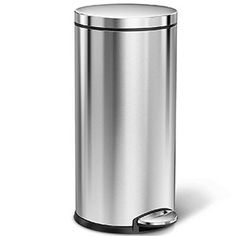 simplehuman 35 Gallons Round Step Can Brushed Stainless Steel, Sweet Home, Canning, Top, House Beautiful, Home Canning, Crop Tee, Conservation