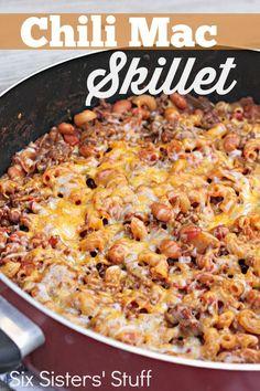 Chili Mac Skillet Recipe on MyRecipeMagic.com