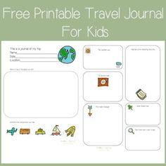 FREE Printable Travel Journal for kids