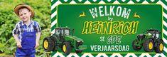 John Deere Birthday Water Label Design (Afrikaans)