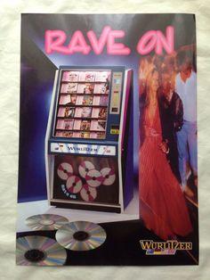 RAVE ON CD WURLITZER JUKEBOX Rave On CD Jukebox Wurlitzer Sales Brochure  | eBay