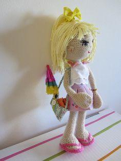 Esta muñeca la hice para Mari. 2014. E Lázare. doll muñecas ganchillo. Amigurumi ♡♡