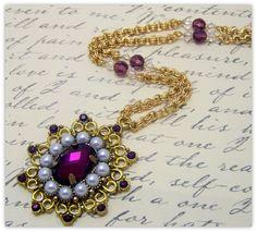 Medieval Necklace - Renaissance Jewelry - Tudor Jewelry, Anne Boleyn Necklace, SCA, Fantasy Jewelry. $39.00, via Etsy.