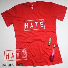 """H A T E"". Ladies Tees. Flex Silver by @eiffashion | Code : 652_RED | IDR. 90.000 | Only Size XL | Order text to : 08195125968 / pin: 22F33330. E : silvas_clothing@yahoo.com  #silvasoriginals #eiffashion #tees #ladiesfashion #poliflex"