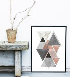 Textured Art, Geometric Print, Printable Art, Scandinavian Modern, Minimalist Art, Home Decor, Wall Decor, Wall Art, Instant Download  Printable Art - This is a digital print , ready for instant download.  Print out on your own computer instantly,or take it to your local print/photo shop, or have it printed online.  Your file will contain a high resolution .jpg which will produce an excellent quality print up to 16 x 20. Your print shop will be able to adjust the size down, if you want a...