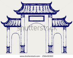 how to draw chinese pavilion - Google Search