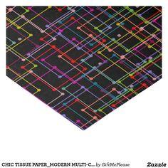 CHIC TISSUE PAPER_MODERN MULTI-COLORED GEOMETRIC http://www.zazzle.com/Giftmeplease?rf=238427465661928545