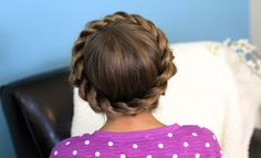 Image result for french braid crown
