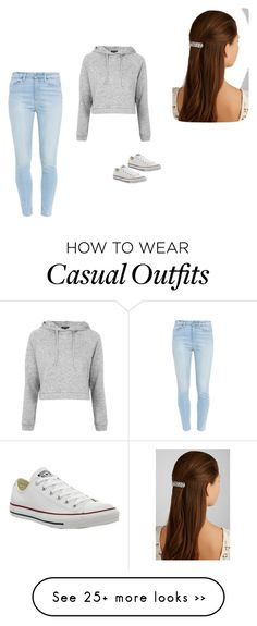 """Casual look"" by jovannacrawford on Polyvore featuring мода, Paige Denim, Topshop, Converse и Jennifer Behr"