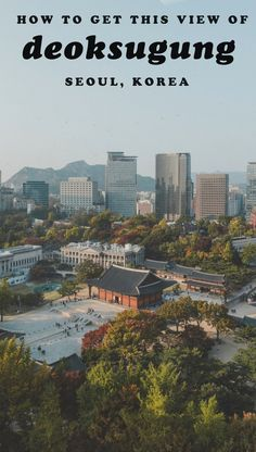 One of the most photographic things to do in Seoul, Korea! Here's how to get this aerial view of Deoksugung. South Korea Travel, Asia Travel, City Hall Station, Travel Activities, Wanderlust Travel, Aerial View, Brunei, Seoul Korea, Best Hotels