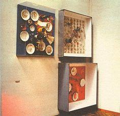 Quadri-trappola del Ristorante della Galleria J   Parigi   2-13 marzo 1963   Daniel Spoerri