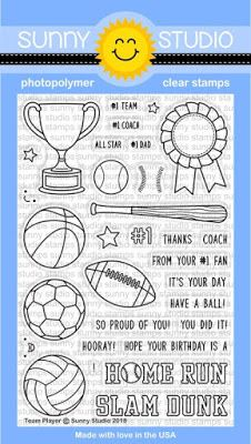 Sunny Studio Stamps: Introducing Team Players 4x6 Clear Stamps