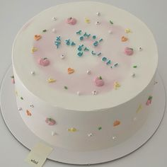 Pretty Birthday Cakes, Baby Birthday Cakes, Pretty Cakes, Cake Decorating Frosting, Birthday Cake Decorating, Simple Cake Designs, Pastel Cakes, Frog Cakes, Cute Baking