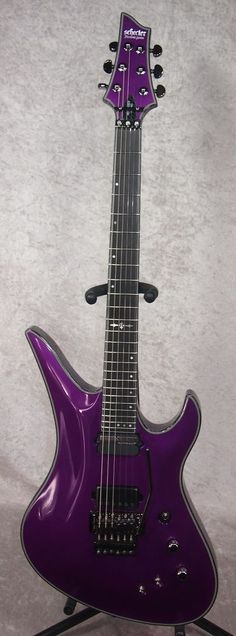NEW! Schecter Hellraiser Hybrid Avenger FR S guitar in Metallic Purple finish #Schecter