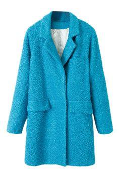 Pocketed Sheer Blue Coat 49.00