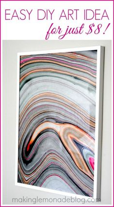 Clever Wall Art Idea: Frame Handmade Paper for a High-End DIY look! #diy #art http://makinglemonadeblog.com
