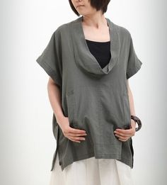 given time - linen blouse - The Simpson - etsy