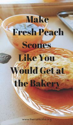 Breakfast Recipes, Dessert Recipes, Breakfast Scones, Breakfast Time, Peach Scones, Bread And Pastries, Summer Recipes, Fresh Peach Recipes, Just Desserts