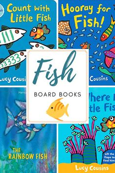 Whether you're getting a pet fish or gearing up for a trip to the beach, little ones will love these fish books for toddlers! Board books for little hands! Infant Activities, Preschool Activities, Best Toddler Books, Board Books For Babies, Kids Reading, Reading Lists, Pet Fish, Rainbow Fish, Little Fish