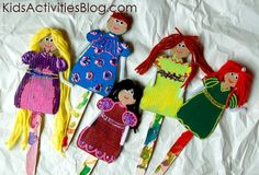 Make these Princess puppets - they are precious!